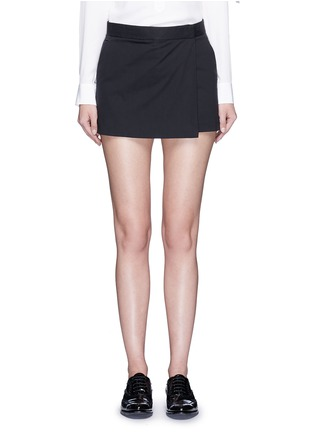 Main View - Click To Enlarge - Theory - 'Rileena' asymmetric flap cotton poplin skort