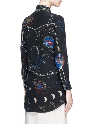Back View - Click To Enlarge - Valentino - Cosmos print silk pyjama shirt