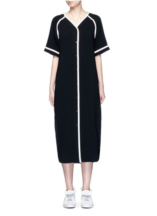 Main View - Click To Enlarge - rag & bone - 'Varsity' petersham ribbon maxi dress