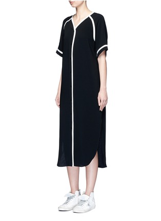 Figure View - Click To Enlarge - rag & bone - 'Varsity' petersham ribbon maxi dress