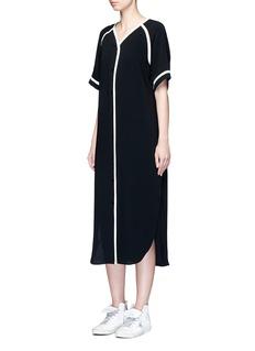 rag & bone'Varsity' petersham ribbon maxi dress