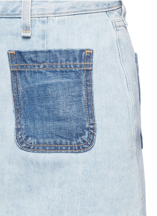 Detail View - Click To Enlarge - rag & bone/JEAN - 'Mini Santa Cruz' contrast pocket denim skirt