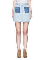 'Mini Santa Cruz' contrast pocket denim skirt