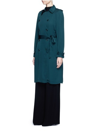 Front View - Click To Enlarge - Theory - 'Laurelwood' silk georgette trench coat