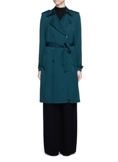 THEORY 'Laurelwood' silk georgette trench coat