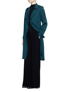 THEORY'Laurelwood' silk georgette trench coat
