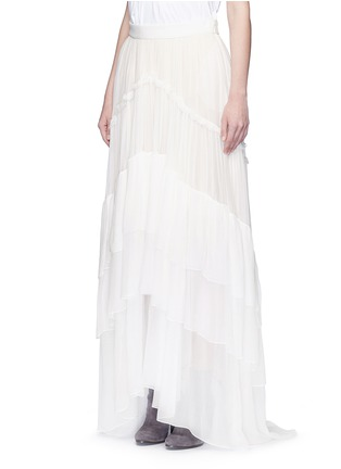Front View - Click To Enlarge - Chloé - Tiered silk mousseline maxi skirt