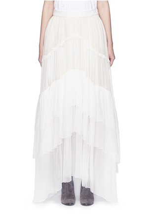 Main View - Click To Enlarge - Chloé - Tiered silk mousseline maxi skirt