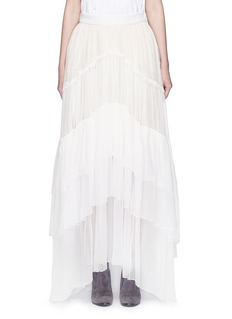 Chloé Tiered silk mousseline maxi skirt