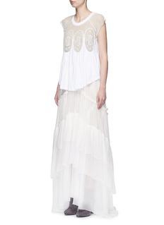 ChloéTiered silk mousseline maxi skirt