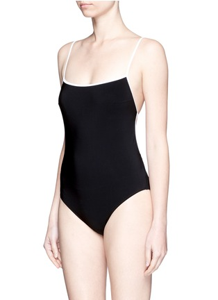 Figure View - Click To Enlarge - Araks - 'Kenley' cutout grid back swimsuit