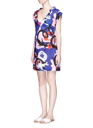 Front View - Click To Enlarge - Araks - x Quentin Jones 'Hope' cover-up kaftan