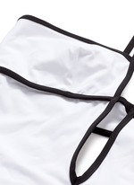 'Harlow' keyhole back grid plunge swimsuit