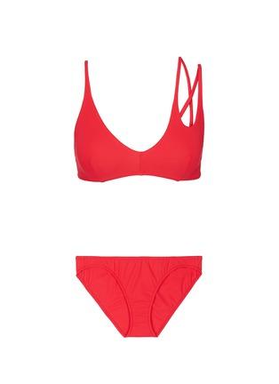 Main View - Click To Enlarge - Araks - 'Elsa' double keyhole strap bikini set