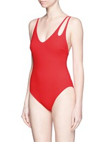 'Jamie' double keyhole strap one-piece swimsuit