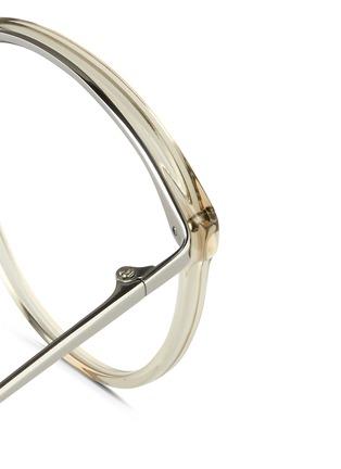 Detail View - Click To Enlarge - Linda Farrow - Acetate front round titanium optical glasses