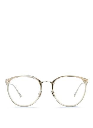 Main View - Click To Enlarge - Linda Farrow - Acetate front round titanium optical glasses