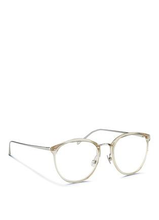 Figure View - Click To Enlarge - Linda Farrow - Acetate front round titanium optical glasses