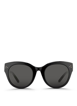 Main View - Click To Enlarge - Linda Farrow - Oversize round cat eye acetate sunglasses