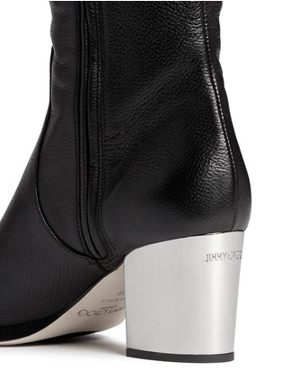 Detail View - Click To Enlarge - Jimmy Choo - 'Mercer' thigh high leather boots