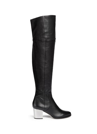 Main View - Click To Enlarge - Jimmy Choo - 'Mercer' thigh high leather boots