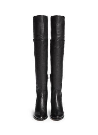 Figure View - Click To Enlarge - Jimmy Choo - 'Mercer' thigh high leather boots