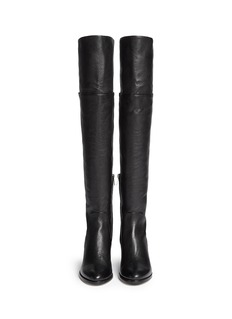 JIMMY CHOO 'Mercer' thigh high leather boots
