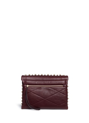 Back View - Click To Enlarge - Lanvin - 'Sugar' medium metal pearl quilted leather flap bag