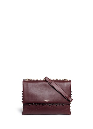 Main View - Click To Enlarge - Lanvin - 'Sugar' medium metal pearl quilted leather flap bag