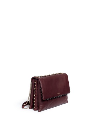 Figure View - Click To Enlarge - Lanvin - 'Sugar' medium metal pearl quilted leather flap bag