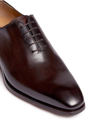 细节 - 点击放大 - MAGNANNI - MARRON真皮系带鞋
