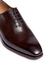 Burnished toe leather Oxfords