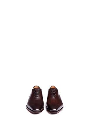 模特儿示范图 - 点击放大 - MAGNANNI - MARRON真皮系带鞋