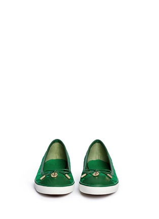 Figure View - Click To Enlarge - Tory Burch - 'Caruso' quilted bow trim flats