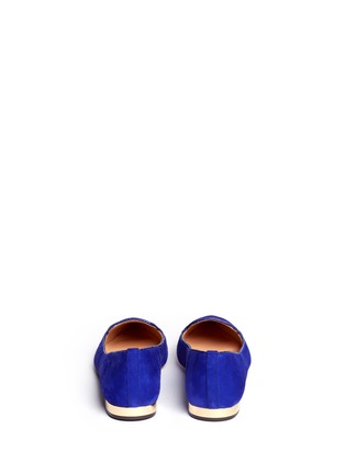 Back View - Click To Enlarge - Tory Burch - 'Connely' suede smoking slippers