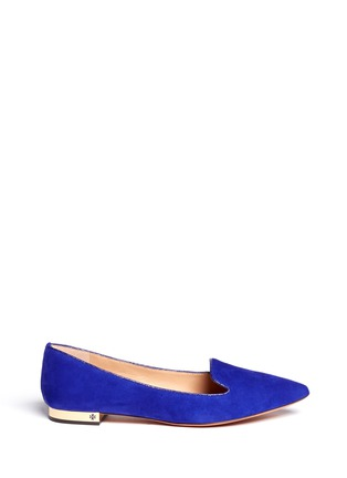 Main View - Click To Enlarge - Tory Burch - 'Connely' suede smoking slippers