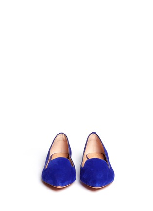 Figure View - Click To Enlarge - Tory Burch - 'Connely' suede smoking slippers