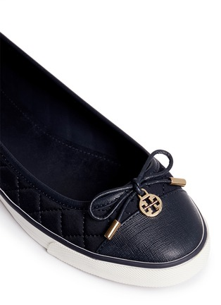 Detail View - Click To Enlarge - Tory Burch - 'Caruso' quilted neoprene bow flats