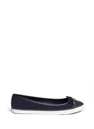 Main View - Click To Enlarge - Tory Burch - 'Caruso' quilted neoprene bow flats