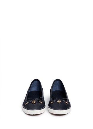 Figure View - Click To Enlarge - Tory Burch - 'Caruso' quilted neoprene bow flats