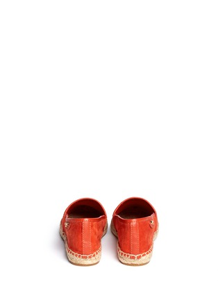 Back View - Click To Enlarge - Tory Burch - 'McKenzie' suede espadrilles