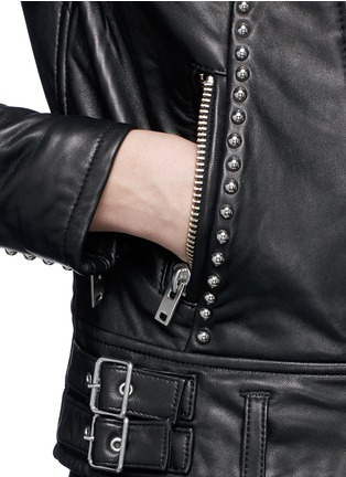 Detail View - Click To Enlarge - IRO - 'Wenda' stud leather biker jacket