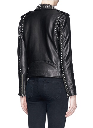 Back View - Click To Enlarge - IRO - 'Wenda' stud leather biker jacket