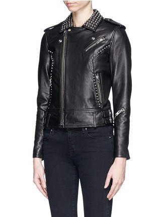 Front View - Click To Enlarge - IRO - 'Wenda' stud leather biker jacket