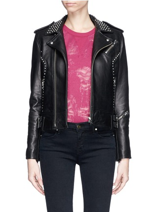 Main View - Click To Enlarge - IRO - 'Wenda' stud leather biker jacket