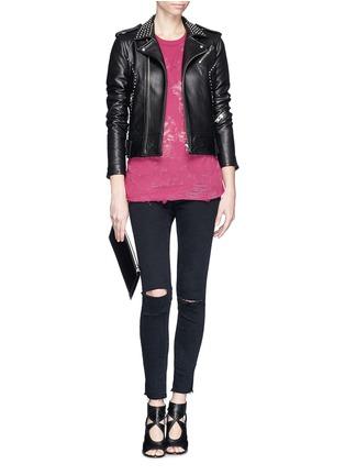 Figure View - Click To Enlarge - IRO - 'Wenda' stud leather biker jacket