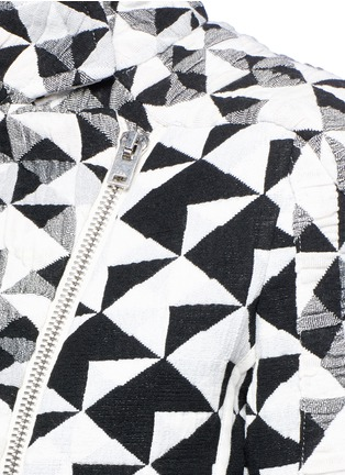 Detail View - Click To Enlarge - IRO - 'Tavia' textured triangle woven jacket