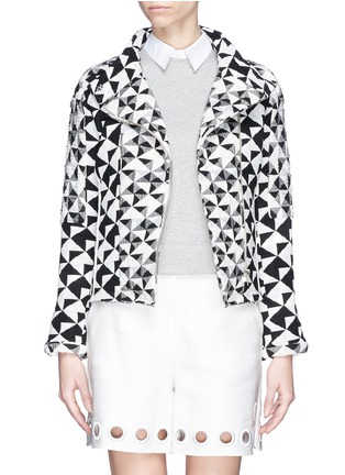 Main View - Click To Enlarge - IRO - 'Tavia' textured triangle woven jacket