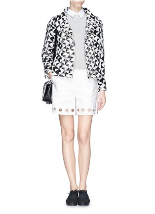 Figure View - Click To Enlarge - IRO - 'Tavia' textured triangle woven jacket