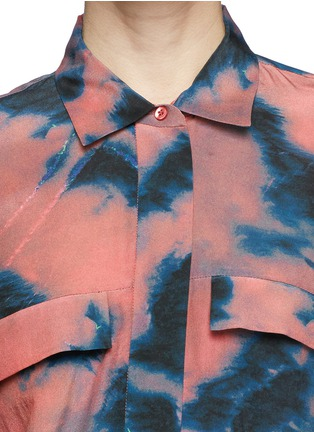 Detail View - Click To Enlarge - IRO - Tie dye side ruche shirt dress
